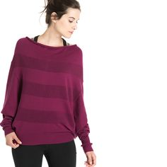 Lole Sammy Sweater - Womens I don't know if we have ever been this excited about a sweater in our office before. Full reversible and fully fashionable, this stunner from should be on your list for Fall! Mulberry Color, Outdoor Brands, Fall Winter 2015, Open Cardigan, Sweaters For Women, Pullover, Knitting, Purple, How To Wear