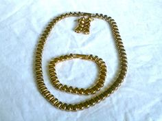 Gold Earring/Necklace/Bracelet Chunky Set  N107 by GraffitiCat, $6.50