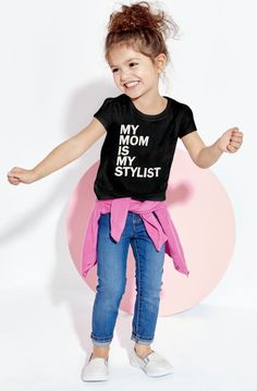 nice Toddler Girls Short Sleeve 'My Mom Is My Stylist' Graphic Tee | The Children's Place