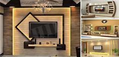Having such a great ideas of design and no use it, it's a real disaster. We serve to you to give you that special ideas on a silver plate(Fabulous TV Wall Units That Will Drive You Crazy For). Tv Unit Design, Tv Wall Design, Loft Design, House Design, Tv Unit Decor, Tv Wall Decor, Plafond Staff, Tv Feature Wall, Modern Tv Wall Units