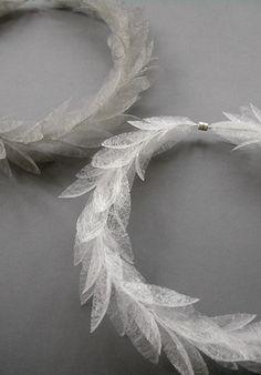 Laurel Neckpiece | Kayo Saito | Polyester Fibre | Silver