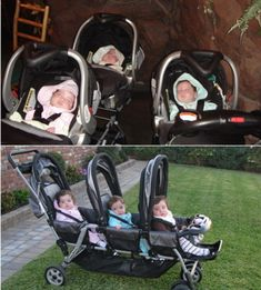 A guide to triplets strollers, clothes and gifts....My babies!