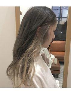 Hidden Hair Color, Two Color Hair, Korean Hair Color, Hair Color Streaks, Hair Color Purple, Asian Hair Dye, Japanese Hair Color, Peekaboo Hair Colors, Date Hairstyles