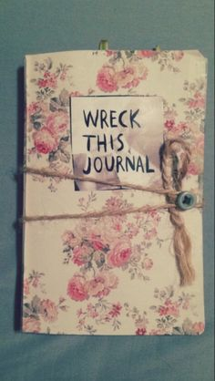 wreck this journal cover   Tumblr