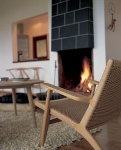 CH 25 armchair and CH 08 table by Hans J Wegner from Carl Hansen