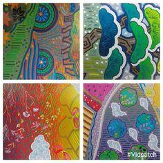 Fumiko Nakayama's quilt, details