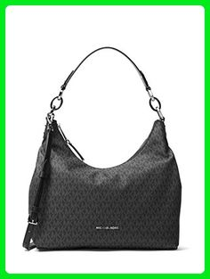 9ff6659e849e MICHAEL MICHAEL KORS Isabella Large Shoulder Bag (Signature Black) - Top  handle bags (