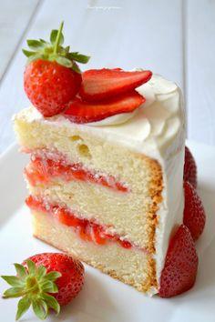 Layer cake fraises