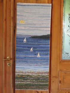 Regatta i Fjärdbotten Tapestry Weaving, Woven Rug, Hand Weaving, Design Ideas, Craft Ideas, Inspiration, Rugs, Crafts, Decor