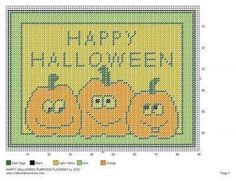 HAPPY HALLOWEEN PUMPKINS PLACE MAT by JODY