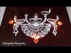 Rangoli is an artistic creation with rice flour that is made outside the front entrance of the house It is usually done by the women flok of the house early . Simple Rangoli Border Designs, Easy Rangoli Designs Diwali, Rangoli Designs Latest, Rangoli Designs Flower, Rangoli Borders, Free Hand Rangoli Design, Small Rangoli Design, Rangoli Patterns, Unique Mehndi Designs