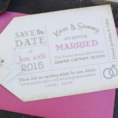 Luggage Tag Save the Date (Grand Cayman)