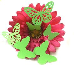 60 Butterfly Die Cuts in Summer Lime Green