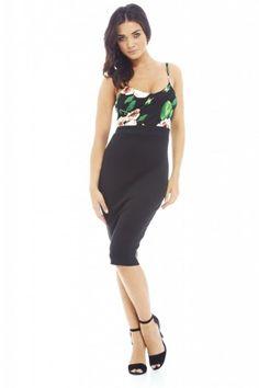 Boobtube Floral top Bodycon  Dress