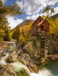 Old Crystal Mill. High above Marble, Colorado, USA