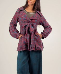 Love this Ian Mosh Red & Green Morgane Jacket by Ian Mosh on #zulily! #zulilyfinds
