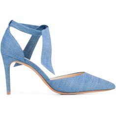 Alexandre Birman Cristinah denim sandals (2884135 PYG) ❤ liked on Polyvore featuring shoes, sandals, blue, alexandre birman sandals, alexandre birman, blue denim shoes, blue denim sandals and denim footwear