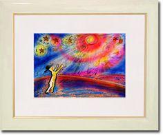 販売絵画 新月紫紺大作 タイトル「愛の星に…パパ&ママ」