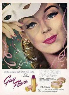 1948 lipstick ad Gay Flare