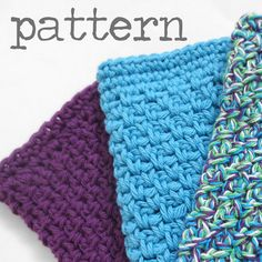 Crochet PATTERN Simple Cotton Dishcloth with Decrease Single Crochet Tutorial Easy Beginner Kitchen Home Decor