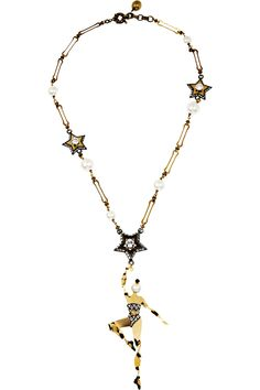 Tiny Dancer: Lanvin Danseuses Swarovski Crystal Necklace