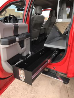 """Your truck IS your office...Answer your Truck Cab Organization needs Organized paperwork, files, and technical data Safe, secure laptop storage. Clean, neat site plans 49"""" Long Drawer in most models"""