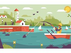 Fisherman by Matt Anderson #Design Popular #Dribbble #shots