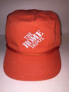 e5394e53b09 Vintage The Home Depot Snapback Hat Cap  fashion  clothing  shoes   accessories