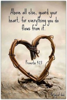 Bible quote: Guard your heart . bible quotes Free eBook: Cultivating a Heart for Motherhood Life Quotes Love, Quotes To Live By, Me Quotes, Gospel Quotes, Wall Quotes, Famous Quotes, Thin Quotes, Quote Life, Biblical Quotes