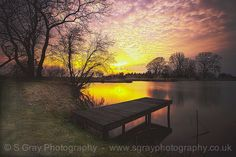 Sitting on the jetty by SGrayPhotography on Etsy Outdoor Furniture, Outdoor Decor, My Images, Sunset, Park, Crafts, Photography, Etsy, Home Decor