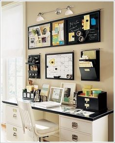 I want this desk & wall organiser. (Edit May2015: I have finally found it & have linked the site.)