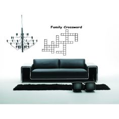 Solve Family Crossword quote Wall Art Sticker Decal