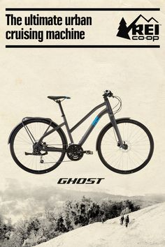 The Women's GHOST Square Urban 2 Step-Thru bike has sleek lines, disc brakes and fenders. An integrated cargo rack lets you mount panniers to haul groceries and other stuff. Only at REI.