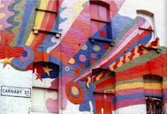 Carnaby street london 60s colorful painted building