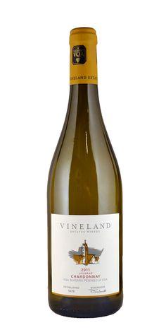 Vineland Estates Winery Unoaked Chardonnay 2011, Vineland, Ontario.