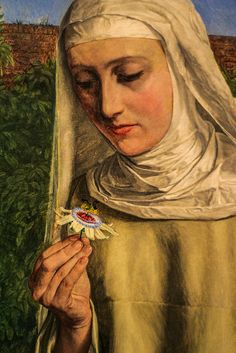 """""""convent thoughts"""" (detail)   charles allston collins"""