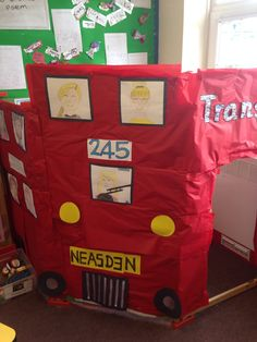 We love this transport topic role play area - perfect for Early Years! Use our Transport Display resources to complement your areas! Classroom Resources, Classroom Ideas, Transport Topics, London Red Bus, British Values, Role Play Areas, Key Stage 1, Display Lettering, London Transport