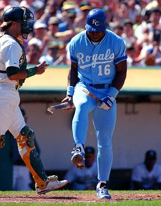 Royals outfielder Bo Jackson breaks a bat over his knee after striking out during a 1990 game against the Athletics. (Brad Mangin/SI) GALLERY: Two-Sport Athletes SI VAULT: Bo Jackson is one of. Bo Jackson, Royals Baseball, Baseball Players, Mlb Players, Baseball Teams, Baseball Boys, Mlb Teams, Baseball Field, Softball