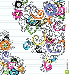 Psychedelic Shape Frames Notebook Doodle Vector Stock Images ...
