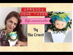 Elfo Aromatizador de biscuit - DIY - Bia CRavol - aula de biscuit - YouTube