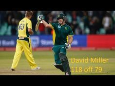 David Miller 118 off 79 vs australia 2016
