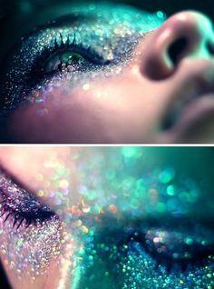 Aqua glitter & make-up :) Makeup Art, Beauty Makeup, Eye Makeup, Alien Makeup, Makeup Ideas, Demon Makeup, Dance Makeup, Makeup Tricks, Makeup Inspo