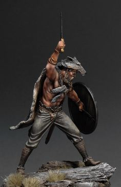 Warrior - Ancient Rome - WWW.treefrogtreasures.com -- pick up figures similar to this from First Legion Toy Soldiers on the Treefrog Website!