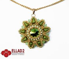 Hara Flower Pendant is a beading project with Super-Kheops® par Puca® beads.Beading Tutorial is very detailed, step by step, with color photos of each step.