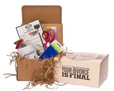 Help someone through a tough time with a laugh #smartforfun YOUR DIVORCE IS FINAL KIT | Divorce Party Gift Basket | UncommonGoods
