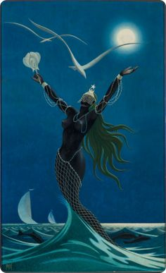 Black Girl Art, Black Art, Art Girl, Black Mermaid, Mermaid Art, Yemaya Orisha, African Mythology, Spiritual Images, Black Anime Characters