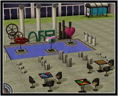 Around the Sims 2 | Objects | Dining-room | Industrial