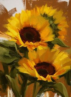 Laurie Kersey - Work Zoom: Sunflower Study