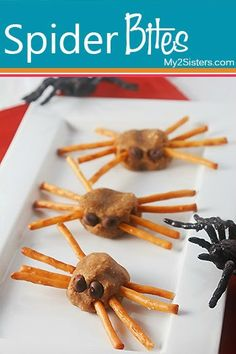 Spider Bites Snack.  Fun for the holidays or anytime in a school lunch.  Great for pairing with learning about spiders