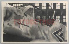 Details zu Jagdflieger Me Bf 109 Flugzeug mit Geschwader Staffelabzeichen TOP…